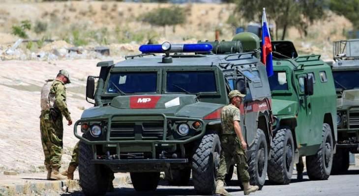 حميميم: الشرطة العسكرية الروسية تواصل دورياتها في ريفي حلب والحسكة