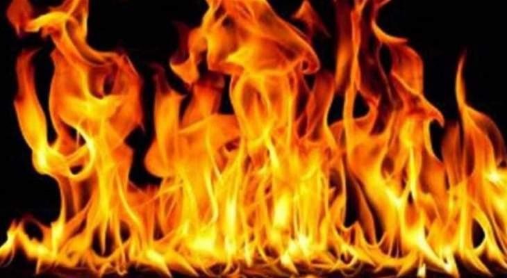 الدفاع المدني أخمد حريق أعشاب وأشجار حرجية في عين الريحانة بكسروان