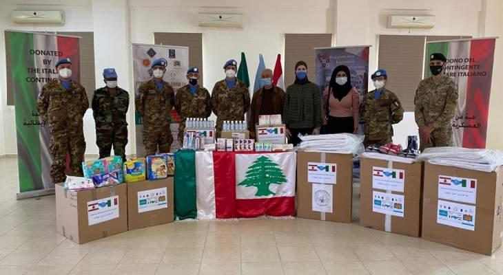 الكتيبة الإيطالية باليونيفيل قدمت أدوية ومعدات لمكافحة كورونا لمركز الخدمات الإنمائية في عيتا الشعب