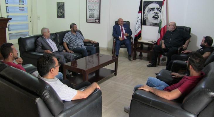 مصطفى حمدان بعد لقاء حزب الشبيبة: لنتوحد من اجل تحرير فلسطين