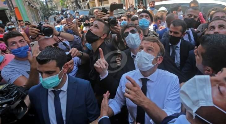 ماكرون: سأطلق مبادرة سياسية جديدة والمساعدات الفرنسية لن تنتهي بأيدي الفاسدين