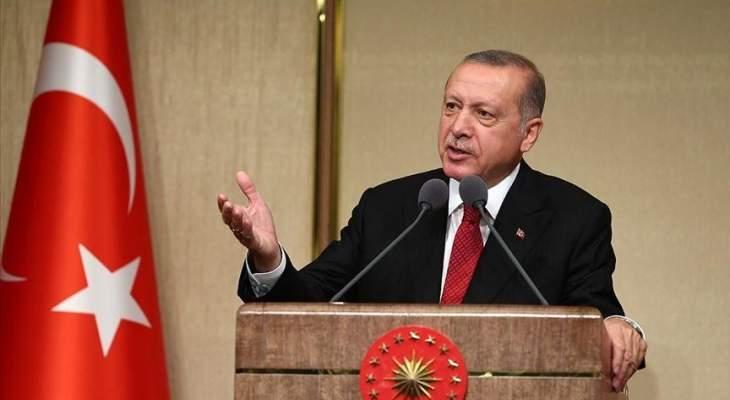 اردوغان: ليس بإمكاننا تحمل موجة لجوء جديدة من سوريا ونتوقع من أميركا مساعدتنا بمحاربة الإرهاب