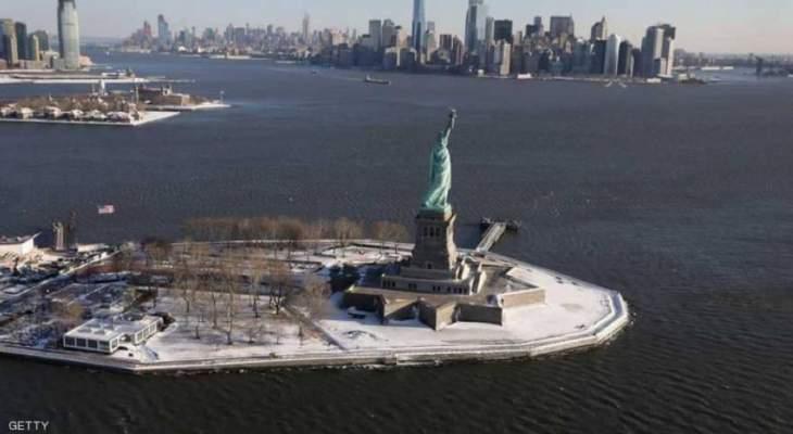صور تظهر آثار العاصفة الثلجية القوية بالولايات المتحدة