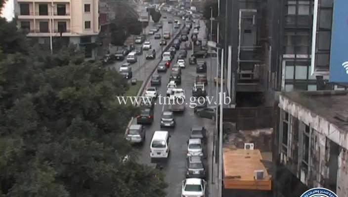 حركة المرور كثيفة من الصيفي باتجاه الكرنتينا وصولا الى جل الديب