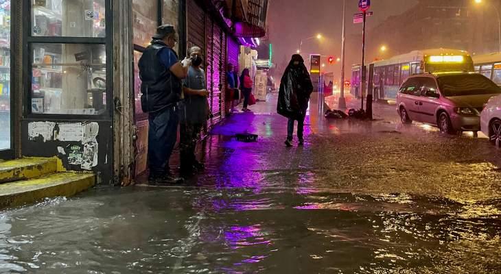 إعلام أميركي: 9 قتلى على الأقل جراء الفيضانات في نيويورك ونيوجيرسي