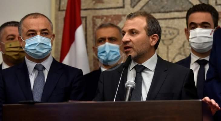 لبنان القوي: الحريري لا يريد تشكيل الحكومة الآن خوفا من تحمل المسؤولية