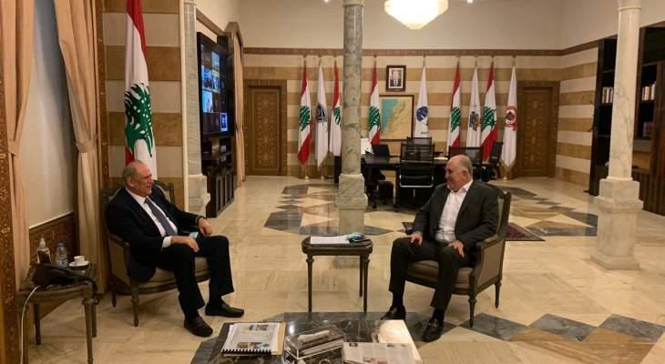 الجراح زار فهمي وتداولا بآخر المستجدات السياسية والامنية في لبنان