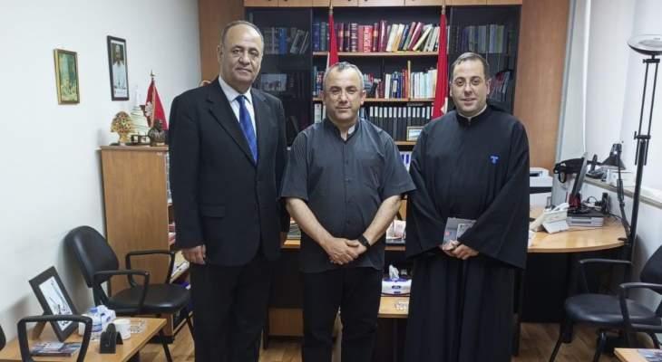 الأب بوعبود التقى رئيس كاريتاس لبنان الأب ميشال عبود