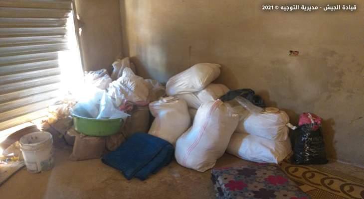 الجيش: توقيف شخص وضبط كمية من حشيشة الكيف داخل منزل في بوداي