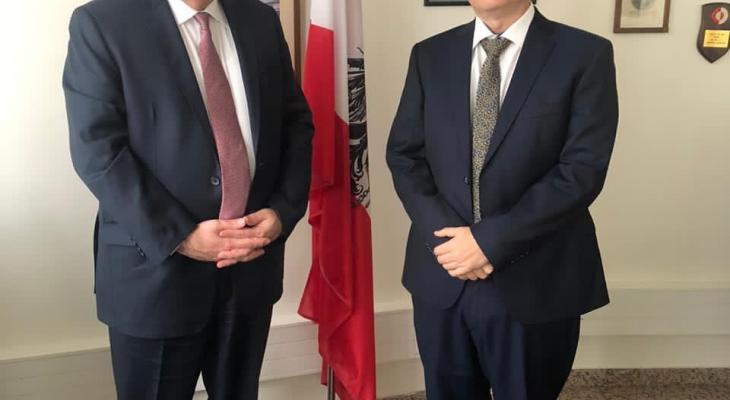 السفير الفلسطيني التقى سفير النمسا ومدير شؤون الاونروا في لبنان