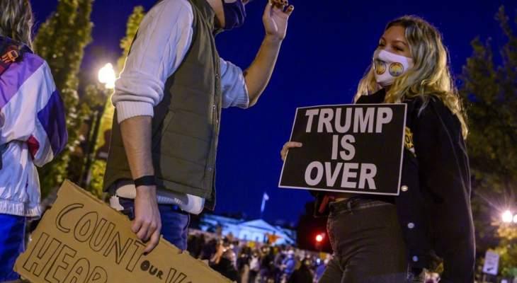 القبض على 50 شخصا في نيويورك و10 في بورتلاند في احتجاجات بعد الانتخابات الأميركية