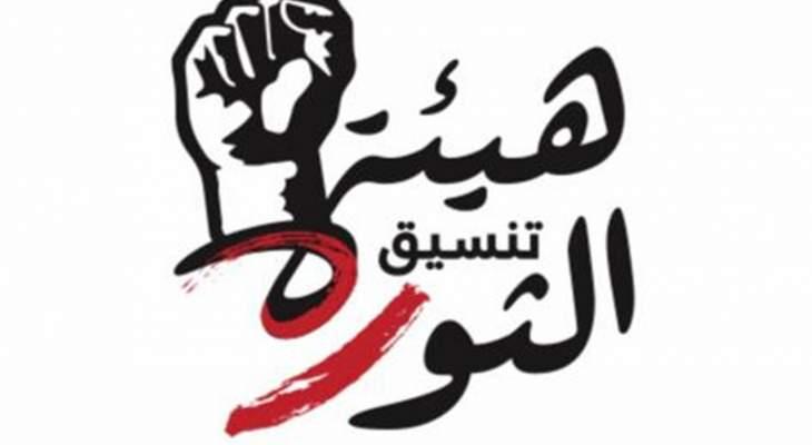 هيئة تنسيق الثورة: لا لإفقار الشعب وكسر ارادته وتدمير أمنه الاجتماعي ونهب ثرواته
