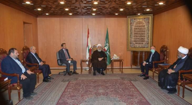 الخطيب: الضغوط الاقتصادية التي يتعرض لها لبنان هدفها إخضاعه للقبول بصفقة القرن