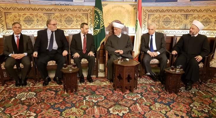 دريان: العواصف السياسية التي يمر بها لبنان عابرة وغيمة ستزول