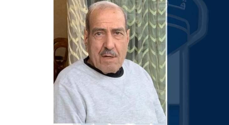 قوى الأمن تعمم صورة المفقود يونس زعل الديري