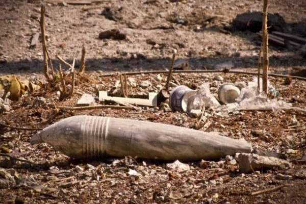 العثور على قذيفة هاون من مخلفات العدو الاسرائيلي في بلدة الخيام