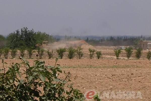 سماع إطلاق نار في حوش السيد علي من داخل الحدود السورية خلال ملاحقة المهربين
