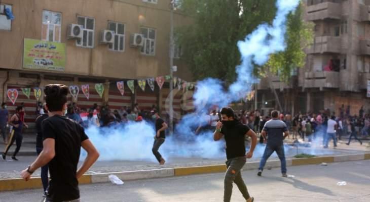 مقتل متظاهر بطلق ناري وإصابة 12 آخرين برصاص حي ومطاطي في بغداد