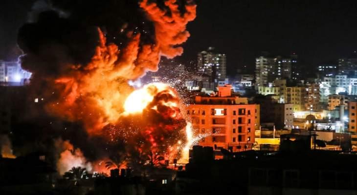 الطيران الحربي الاسرائيلي يشن سلسلة غارات على قطاع غزة ليلا