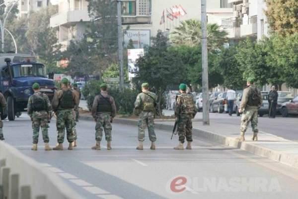 النشرة: اشكال بقصقص خلال محاولة الجيش منع انصار المستقبل من قطع الطريق