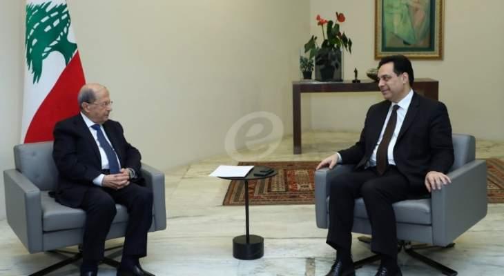 اتفاق بين عون ودياب على تأجيل الانتخابات النيابية الفرعية الى اوائل العام المقبل
