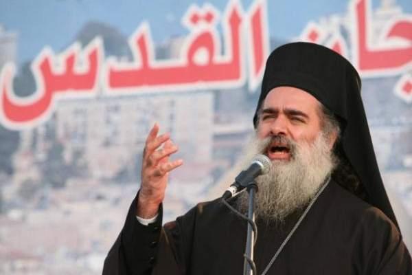 المطران عطا الله حنا: فلسطين ستبقى قضيتنا والقدس عاصمتنا وقبلتنا