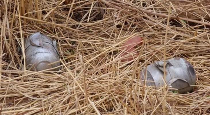 النشرة: إصابة مواطن بانفجار قنبلة عنقودية في بلدة زوطر الشرقية