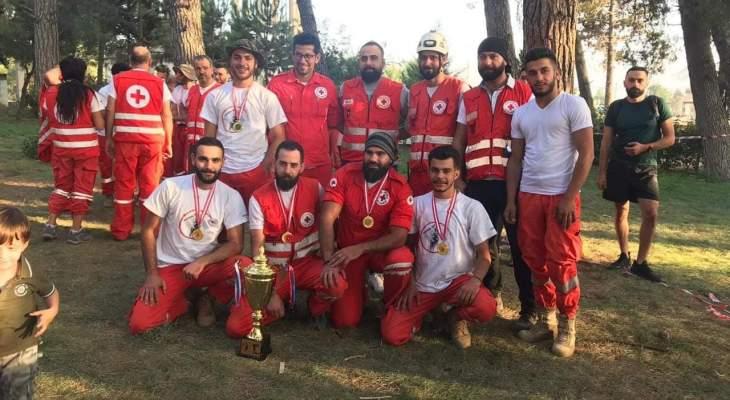 فريق الإنقاذ الجبلي التابع للصليب الأحمر بمركز شبعا حل أولا بمناورة نفذها الصليب الأحمر برياق