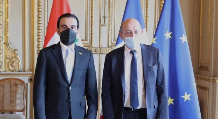 الحلبوسي ولودريان ناقشا أهمية استمرار فرنسا بدعم العراق وإسناده بالحرب ضد داعش