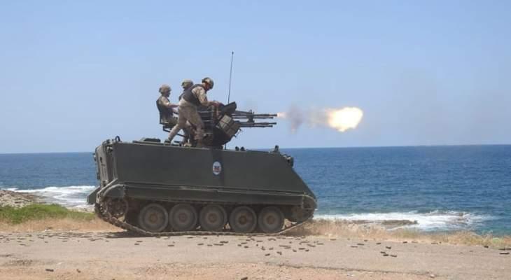 الجيش اعلن عن تمرين قتالي مشترك بين الجيش واليونيفيل في الناقورة