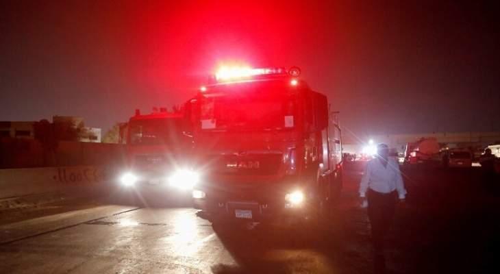 الحماية المدنية المصرية: السيطرة على حريق 11 سيارة بمحافظة القليوبية