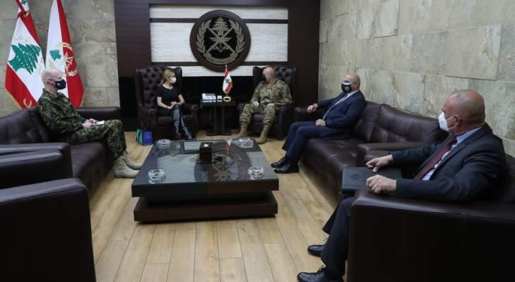 قائد الجيش استقبل السفيرة السويسرية في لبنان برفقة الملحق العسكري