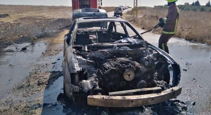 الدفاع المدني أخمد حريق سيارة على طريق عام بلدة يحمر الشقيف - كفرتبنيت