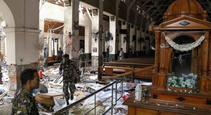 السريلانكيون وقفوا ثلاث دقائق صمت على ضحايا التفجيرات