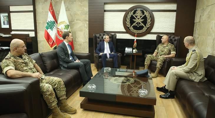قائد الجيش التقى السفير البريطاني ورعى حفل تخريج دورة الأركان الثالثة والثلاثين
