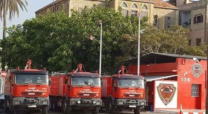 سرية إطفاء مدينة صيدا: لم نعد قادرين على تلبية المهمات