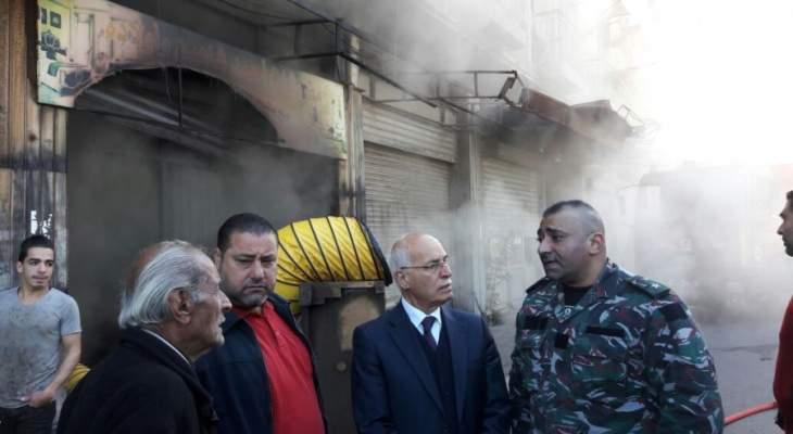 الشريف تفقد الحريق بالبوابة الفوقا: ضرورة توافر شروط السلامة العامة في كل مؤسسة صناعية