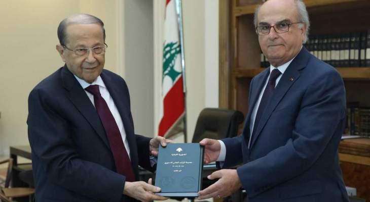 الرئيس عون تسلم من سليمان الجزء الثالث من قرارات المجلس الدستوري