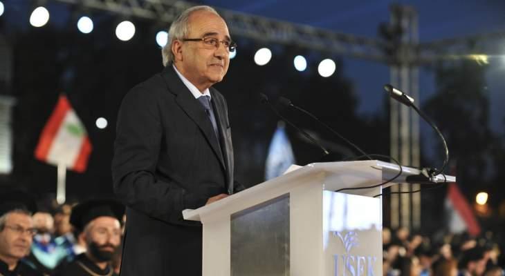 سرحان: لبنان يُستهدف كل يوم لكنه يحيا من جديد ورسالته صناعة العلم والمعرفة