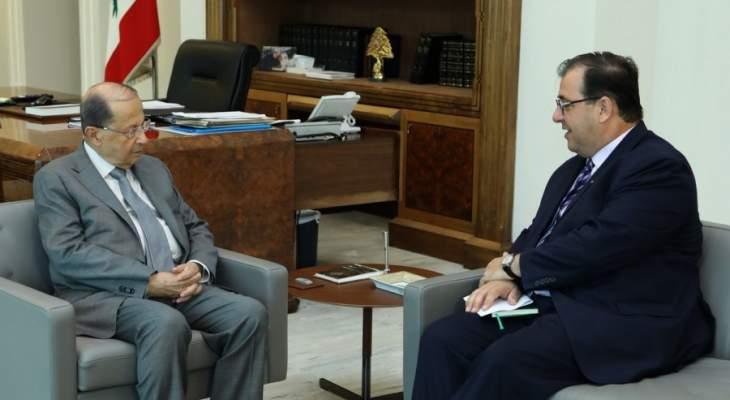 الجمهورية: لقاء الرئيس وسفير فرنسا تناول القضايا المحلية والاقليمية