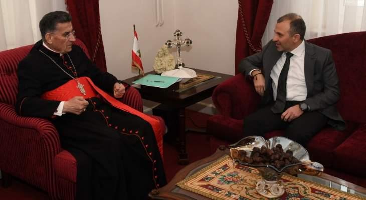 باسيل اشار الى اهمية زيارة الراعي الى الفاتيكان خصوصًا في هذه الاجواء الضاغطة على لبنان
