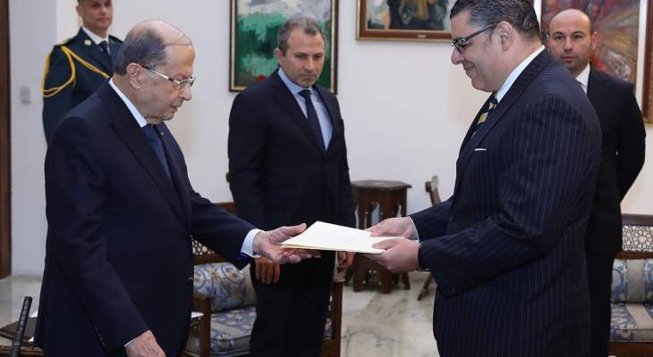 الرئيس عون تسلم اوراق اعتماد ستة سفراء جدد في لبنان