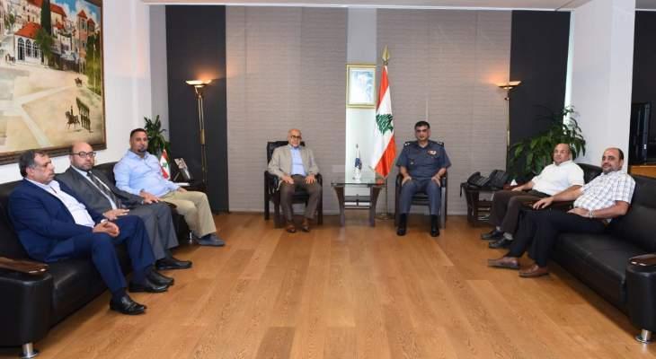 اللواء عثمان استقبل وفدا من أعضاء المجلس البلدي لمدينة طرابلس