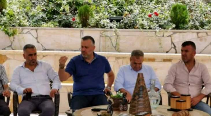 حبيش التقى وفدا من جبل اكروم وبحث معه مشروع انتاج الكهرباء من الرياح