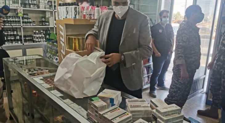 امن الدولة: جولة على الصيدليات بقاعا وإقفال بعضها بالشمع الأحمر