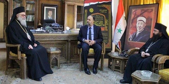 يوحنا العاشر: المتآمرون لن يستطيعوا أن يفرقوا بين أبناء الاسرة السورية الواحدة