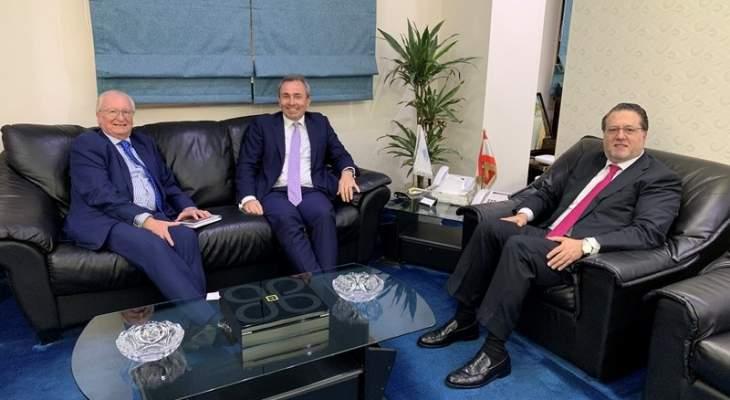 شقير بحث ورامبلينغ في تنمية العلاقات اللبنانية البريطانية