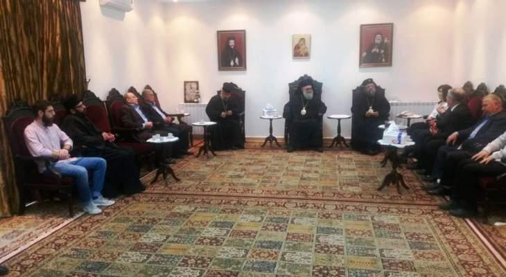 يازجي زار دير سيدة عربايا في بينو: كنيستنا بحاجة إلى كهنة ورهبان
