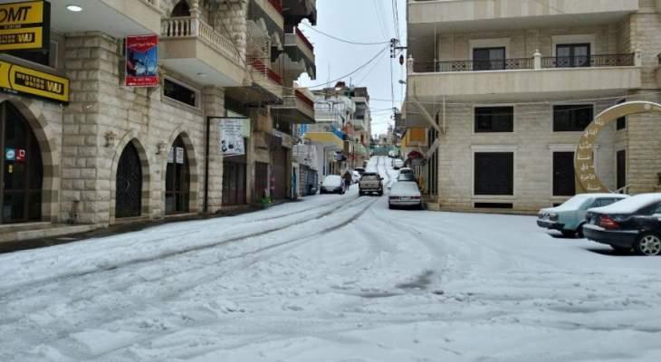 النشرة:قطع عدد من الطرقات وانقطاع الكهرباء عن بعض القرى بحاصبيا بسبب العاصفة
