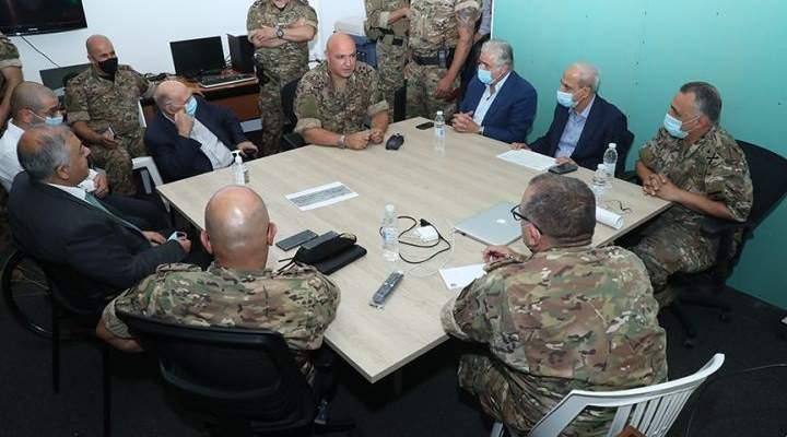 قائد الجيش: لتضافر جهود جميع اللبنانيين وتكاتفهم بسبيل تجاوز تداعيات الكارثة